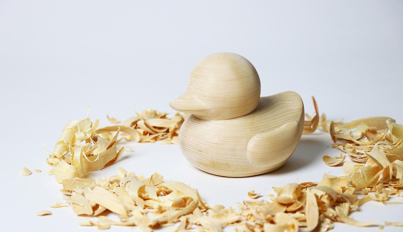 【ヒノキのアヒル(Japanese cypress bath duck)】